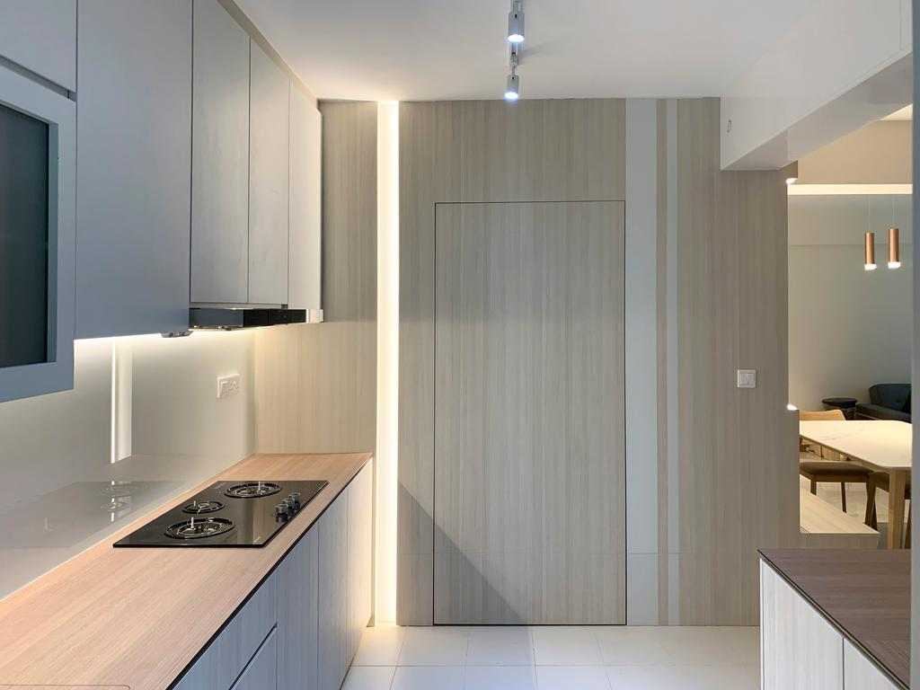Modern, HDB, Kitchen, West Ridges @ Bukit Batok, Interior Designer, Sky Creation Asia, Scandinavian