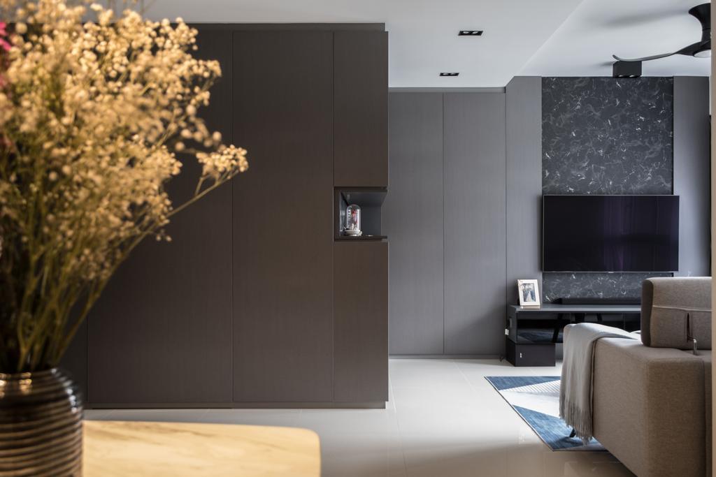 Contemporary, HDB, Living Room, Bukit Batok West Ave 9, Interior Designer, United Team Lifestyle