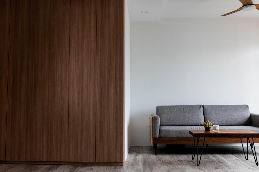 Scandinavian, HDB, Living Room, Bedok North Road, Interior Designer, Forefront Interior