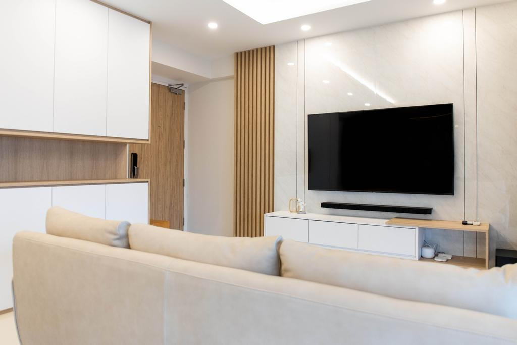 Scandinavian, HDB, Living Room, Boon Keng Road, Interior Designer, Forefront Interior