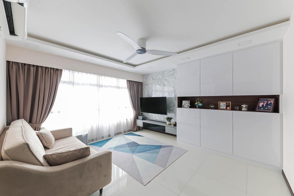 Modern, HDB, Living Room, Macpherson Spring, Interior Designer, Posh Living Interior Design, Contemporary