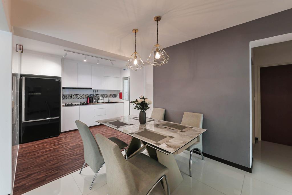 Modern, HDB, Dining Room, Macpherson Spring, Interior Designer, Posh Living Interior Design, Contemporary