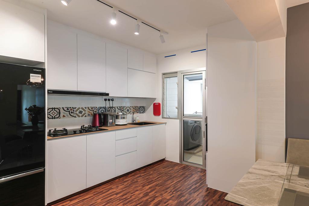 Modern, HDB, Kitchen, Macpherson Spring, Interior Designer, Posh Living Interior Design, Contemporary