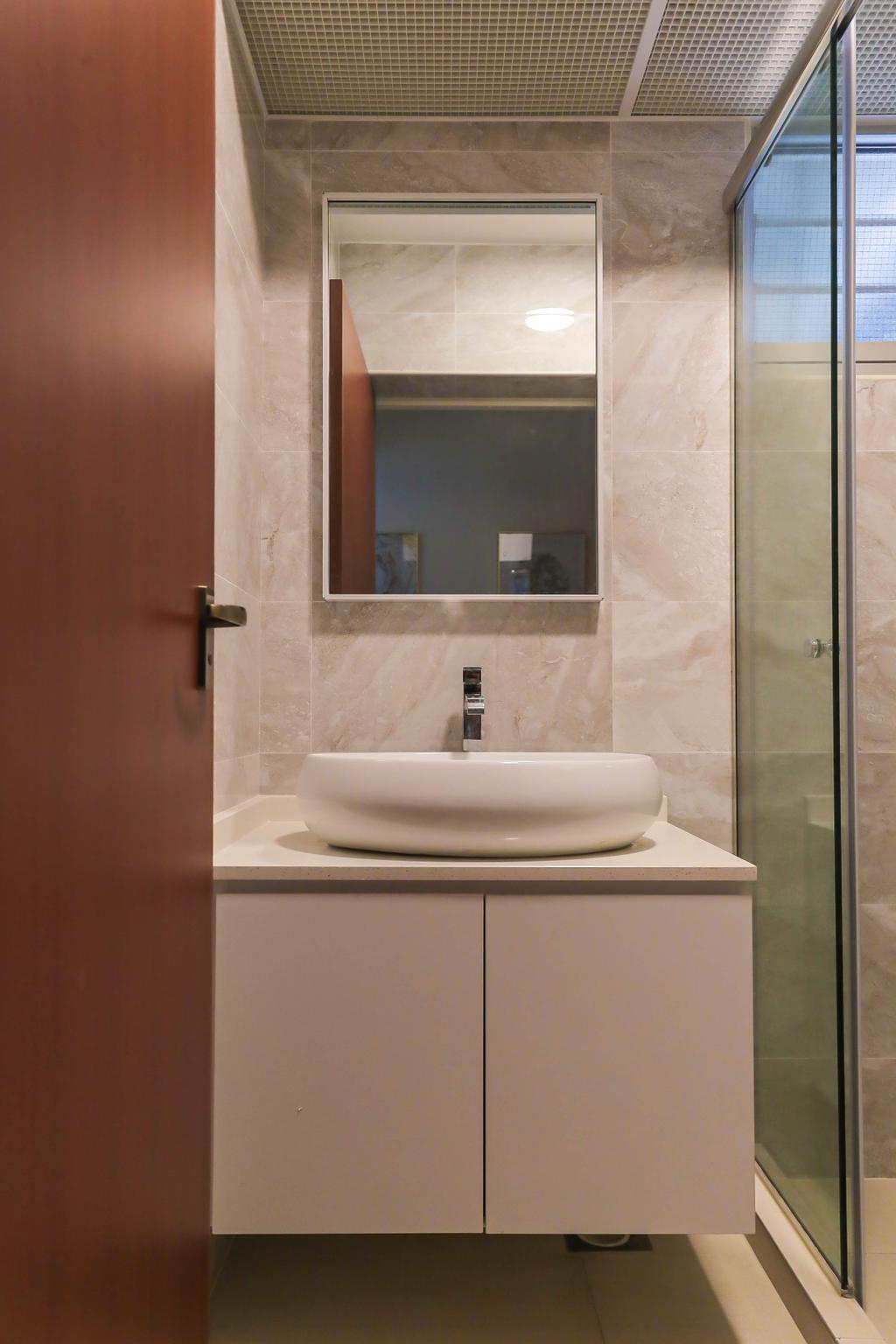 Modern, HDB, Bathroom, Macpherson Spring, Interior Designer, Posh Living Interior Design, Contemporary