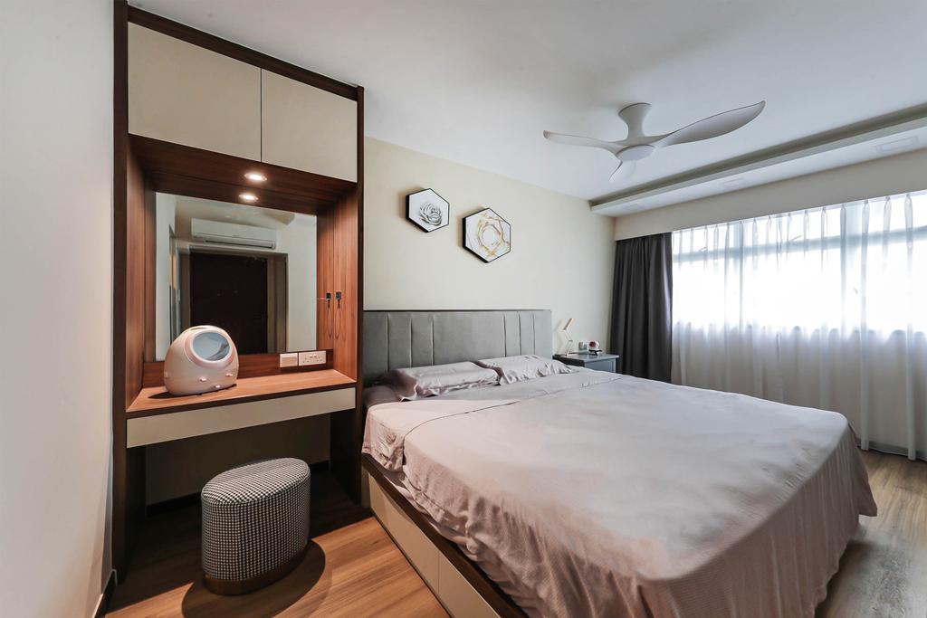 Modern, HDB, Bedroom, Macpherson Spring, Interior Designer, Posh Living Interior Design, Contemporary