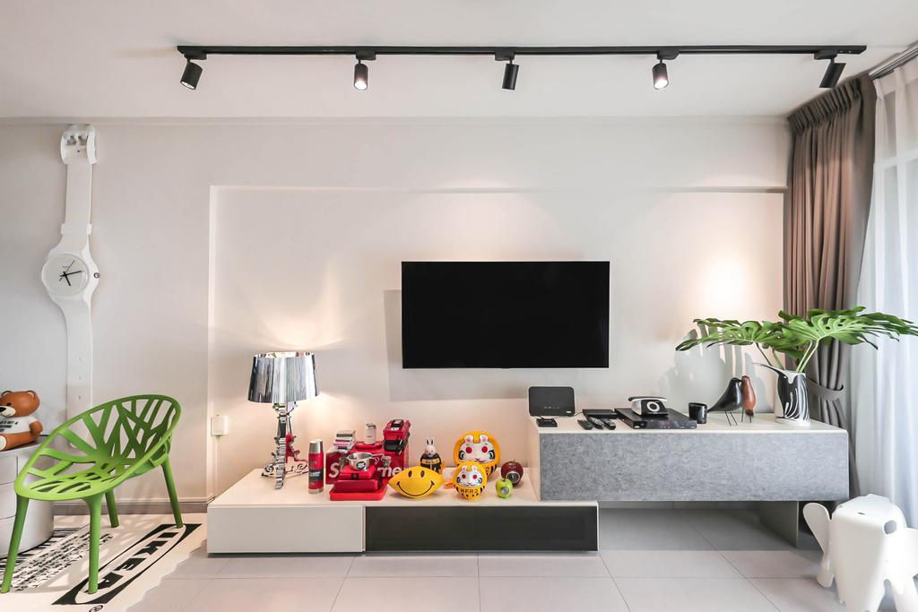 Modern, HDB, Living Room, Tampines Street 41, Interior Designer, Posh Living Interior Design, Contemporary