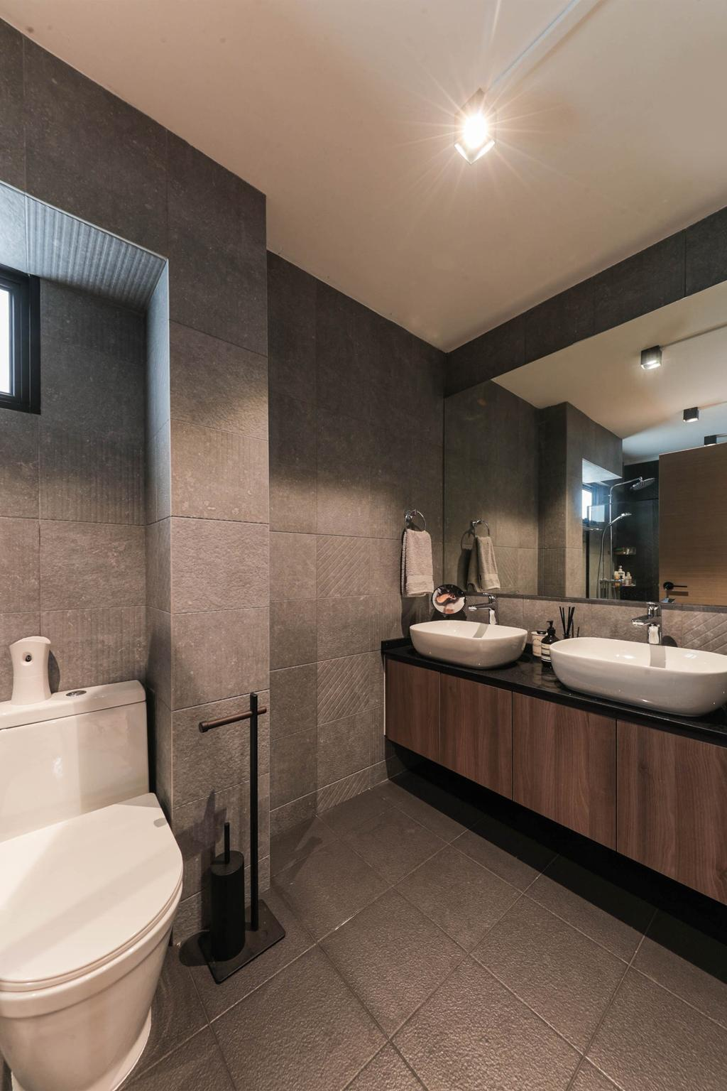 Modern, HDB, Bathroom, Tampines Street 41, Interior Designer, Posh Living Interior Design, Contemporary