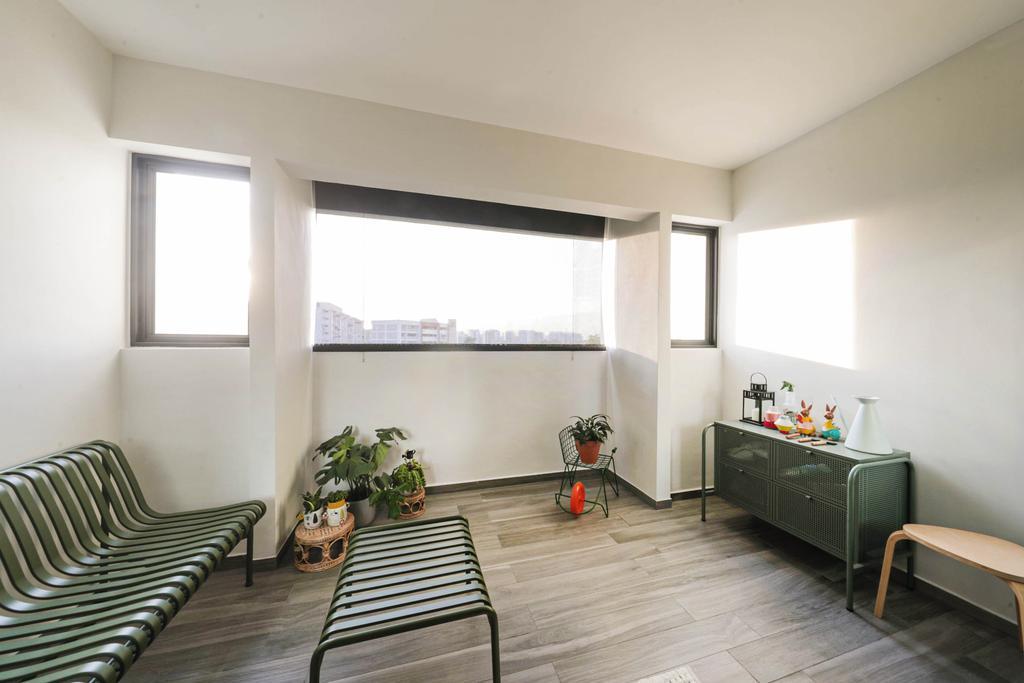 Modern, HDB, Balcony, Tampines Street 41, Interior Designer, Posh Living Interior Design, Contemporary