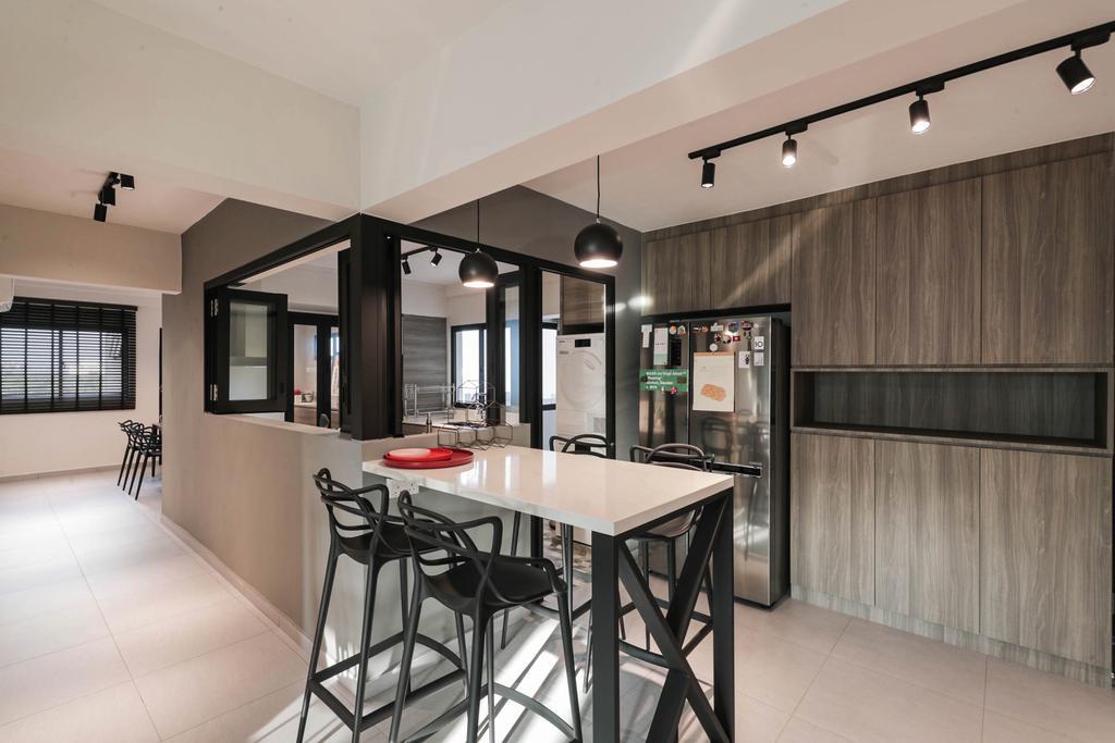 Modern, HDB, Kitchen, Tampines Street 41, Interior Designer, Posh Living Interior Design, Contemporary
