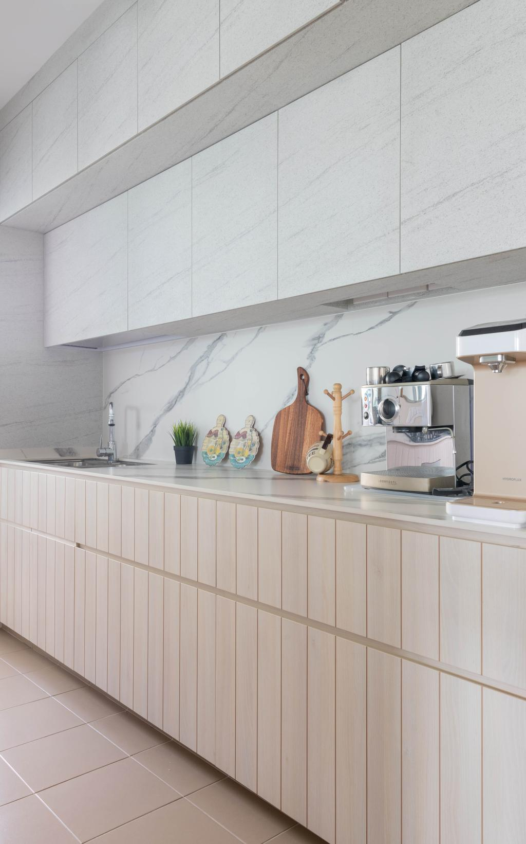 Scandinavian, HDB, Kitchen, Sengkang East Avenue, Interior Designer, Urban Home Design 二本設計家