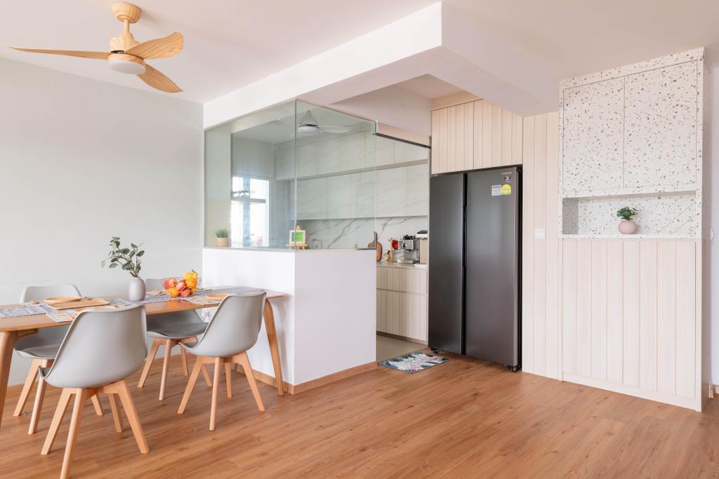 Scandinavian, HDB, Dining Room, Sengkang East Avenue, Interior Designer, Urban Home Design 二本設計家