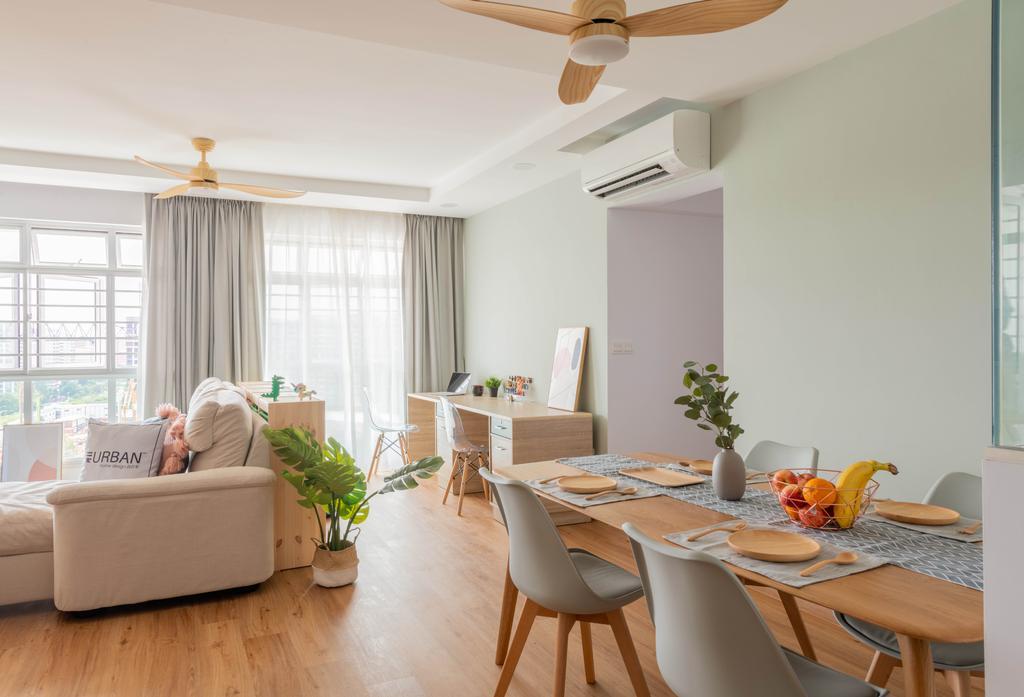 Scandinavian, HDB, Living Room, Sengkang East Avenue, Interior Designer, Urban Home Design 二本設計家