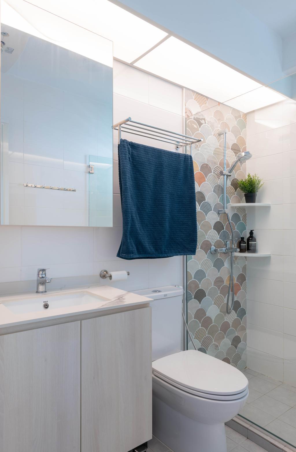 Scandinavian, HDB, Bathroom, Sengkang East Avenue, Interior Designer, Urban Home Design 二本設計家