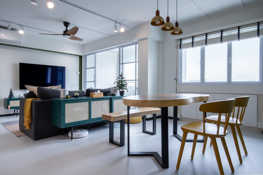 Scandinavian, HDB, Living Room, Toh Guan Road, Interior Designer, Ataz Haus Interior Design