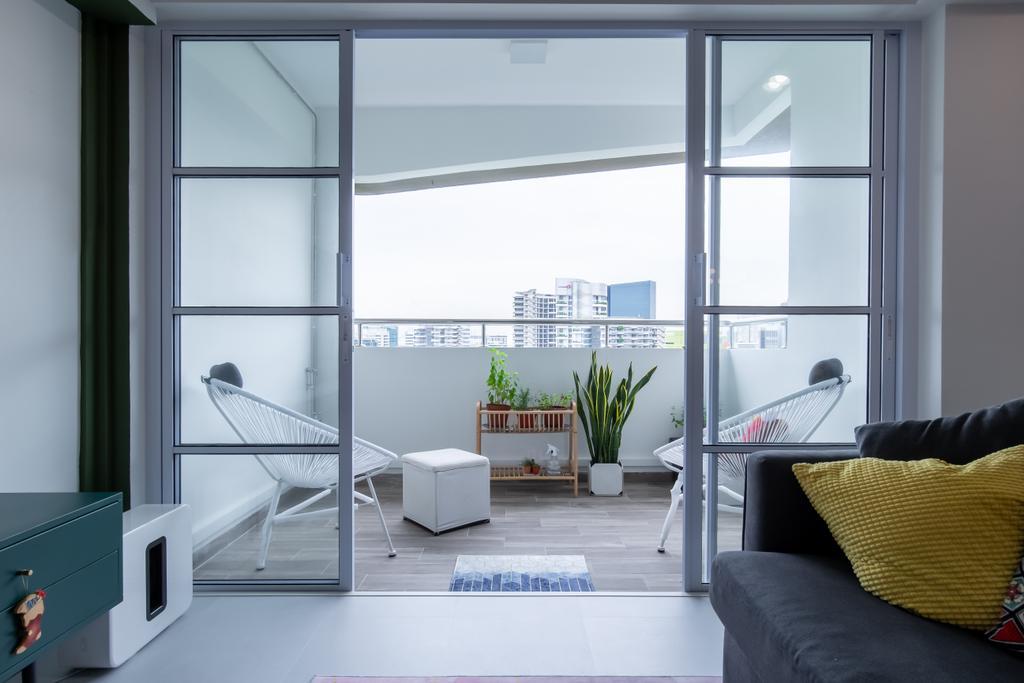 Scandinavian, HDB, Balcony, Toh Guan Road, Interior Designer, Ataz Haus Interior Design