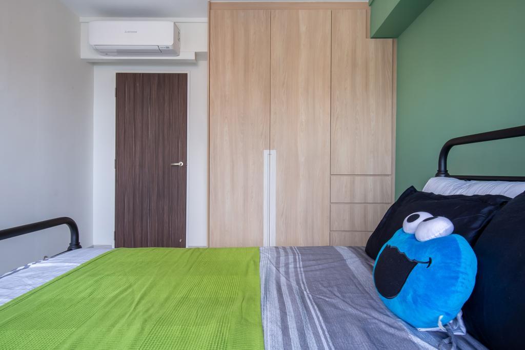 Scandinavian, HDB, Bedroom, Toh Guan Road, Interior Designer, Ataz Haus Interior Design