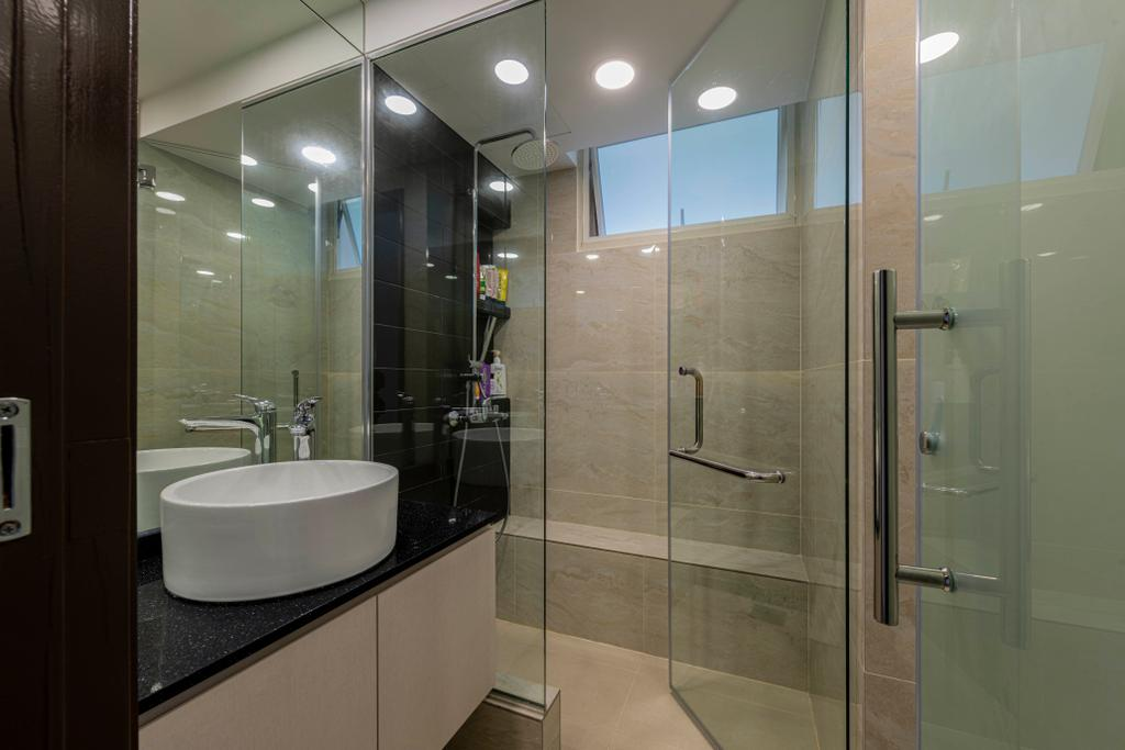 Modern, Condo, Bathroom, Rio Vista, Interior Designer, DM+, Contemporary