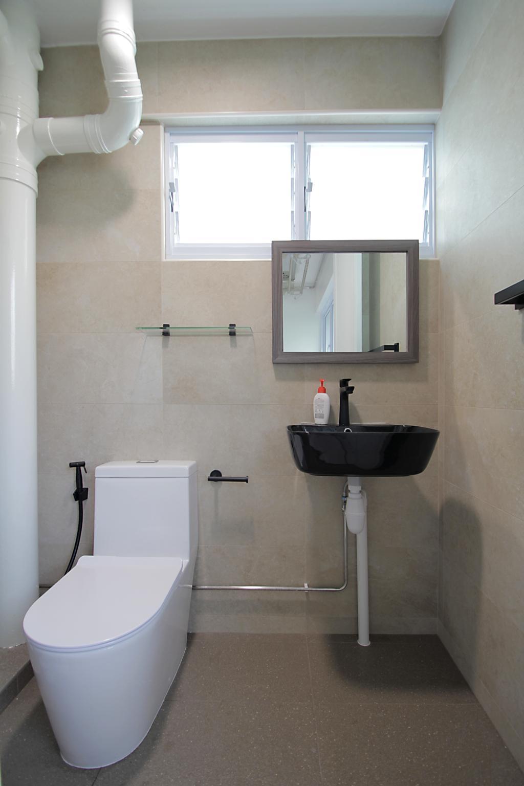 Contemporary, HDB, Bathroom, Yishun Ring Road, Interior Designer, Mesh Room Design