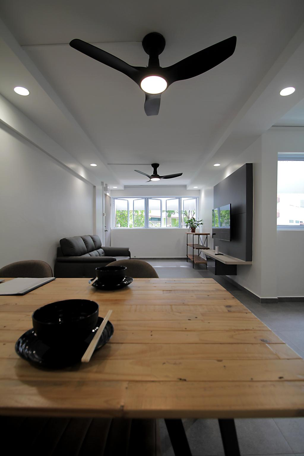 Contemporary, HDB, Dining Room, Yishun Ring Road, Interior Designer, Mesh Room Design