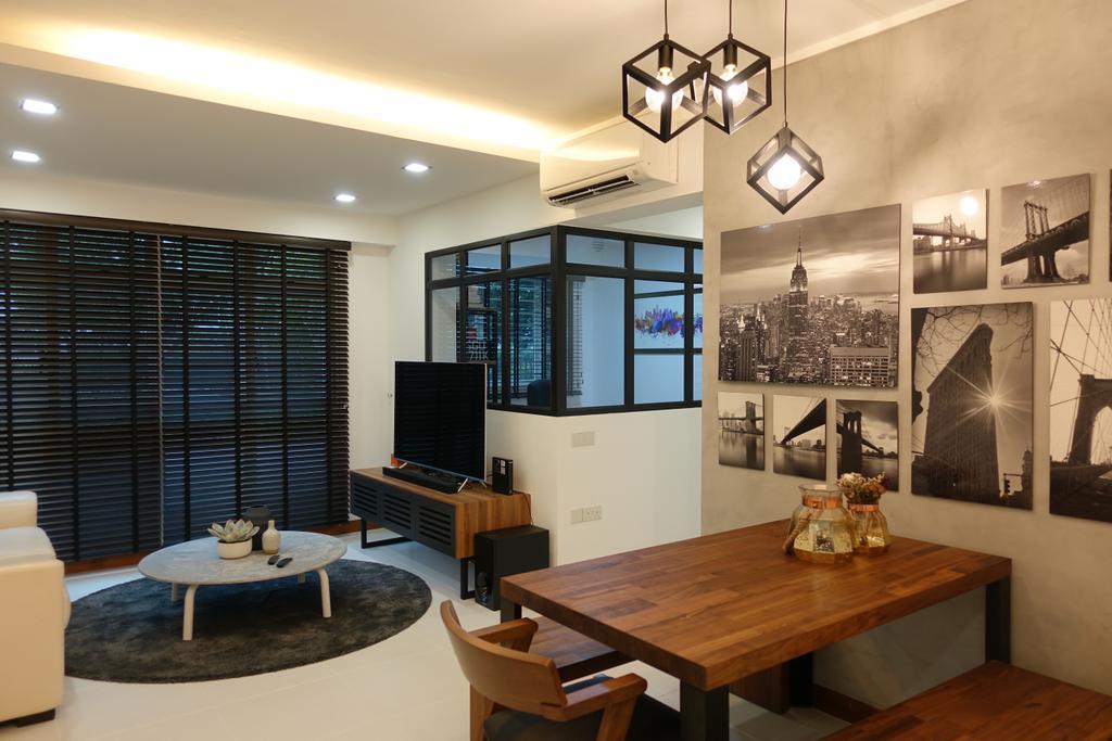 Modern, HDB, Living Room, Punggol Place, Interior Designer, Exqsite Interior Design
