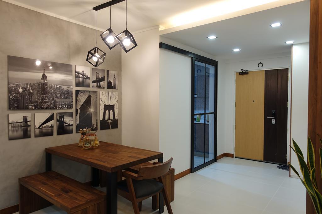 Modern, HDB, Dining Room, Punggol Place, Interior Designer, Exqsite Interior Design