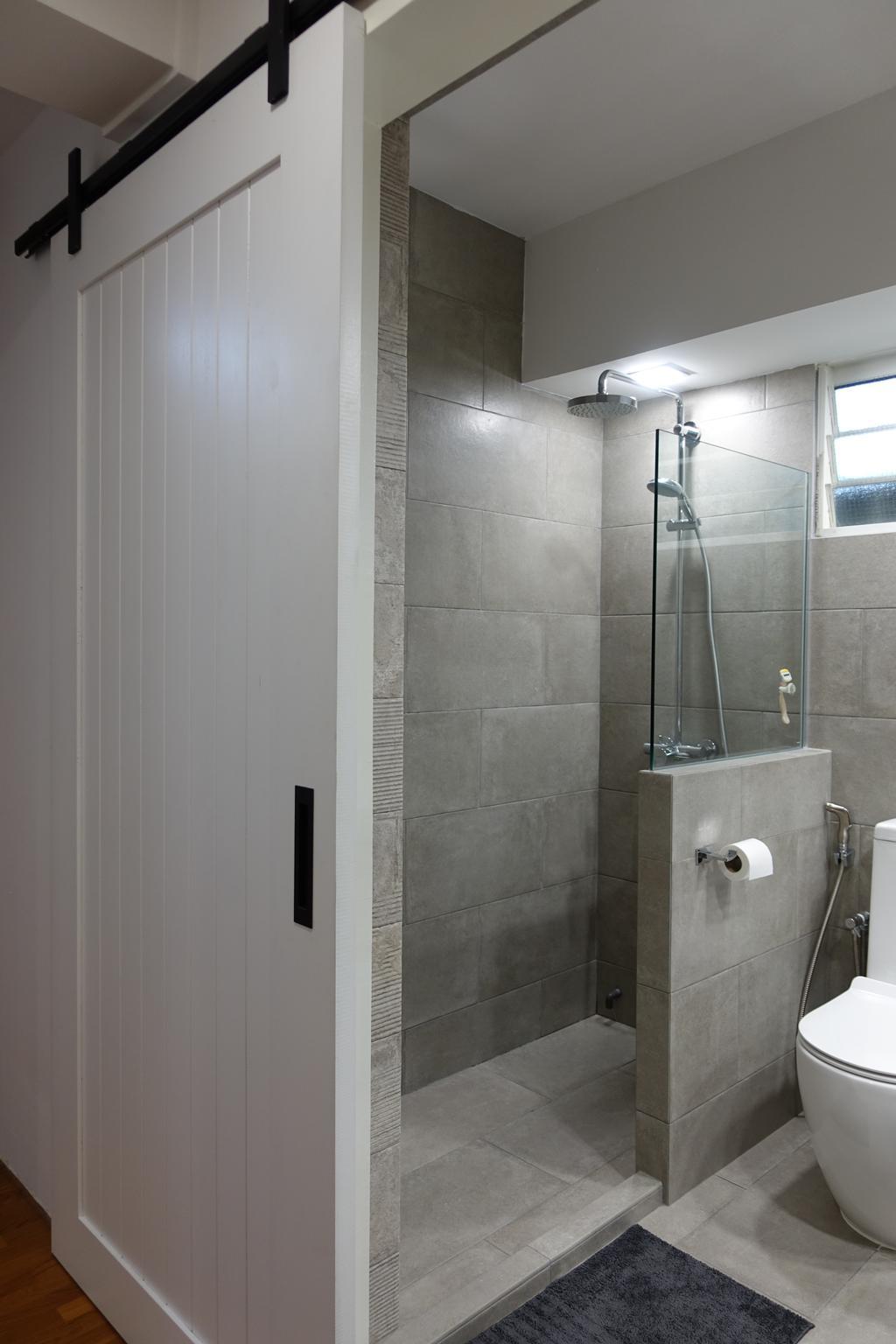 Modern, HDB, Bathroom, Punggol Place, Interior Designer, Exqsite Interior Design