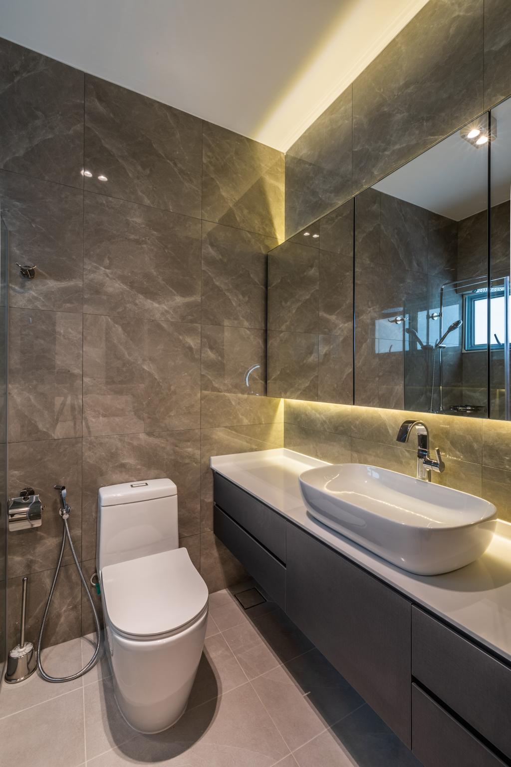 Modern, HDB, Bathroom, Jelebu Road, Interior Designer, Exqsite Interior Design, Contemporary