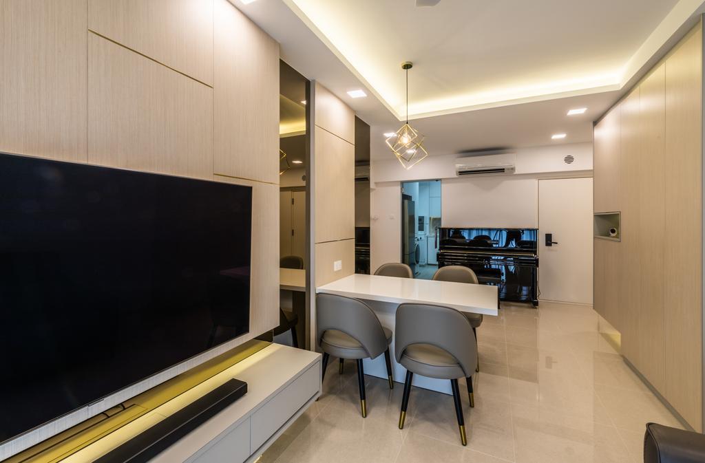 Modern, HDB, Living Room, Jelebu Road, Interior Designer, Exqsite Interior Design, Contemporary