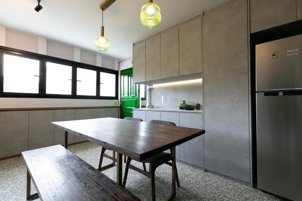 Modern, HDB, Dining Room, Queen Close, Interior Designer, Todz'Terior