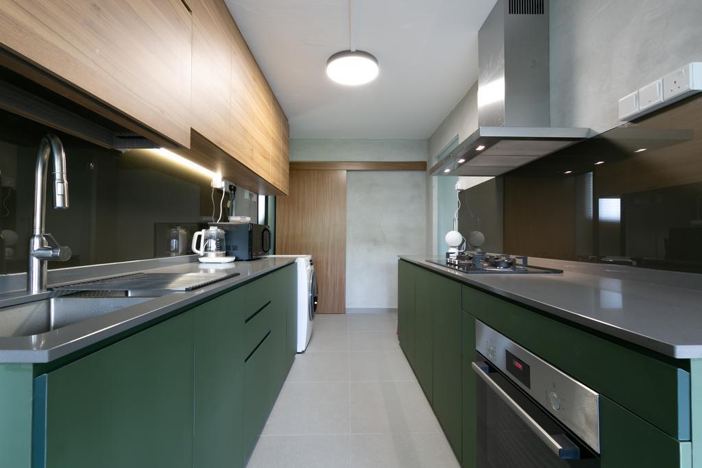 Modern, HDB, Kitchen, Queen Close, Interior Designer, Todz'Terior