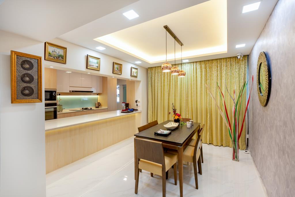 Modern, HDB, Dining Room, Ang Mo Kio Avenue 3, Interior Designer, Todz'Terior