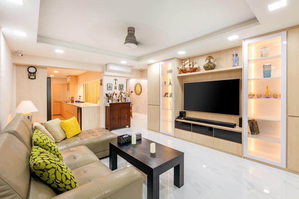Modern, HDB, Living Room, Ang Mo Kio Avenue 3, Interior Designer, Todz'Terior