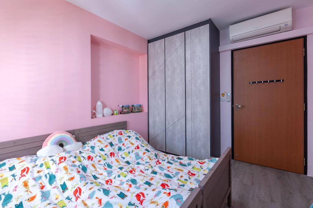 HDB, Bedroom, Anchorvale Street, Interior Designer, Todz'Terior