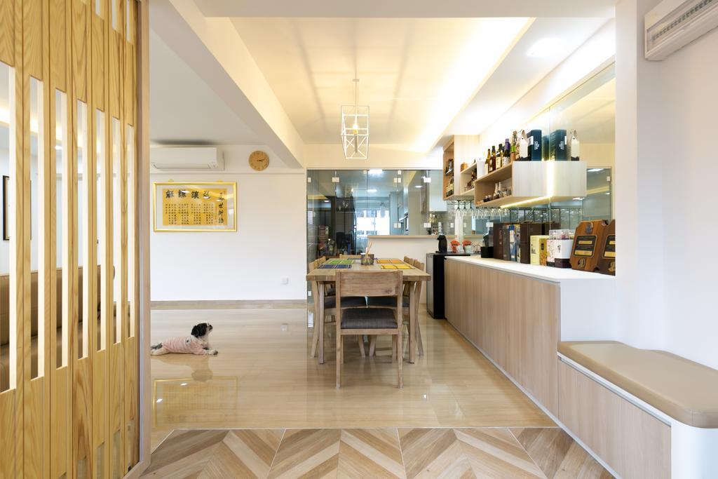 Modern, HDB, Living Room, Woodlands Avenue 3, Interior Designer, Todz'Terior