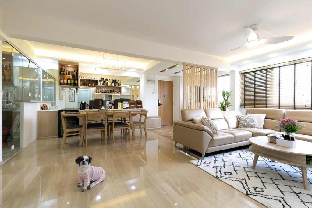 Modern, HDB, Living Room, Woodlands Avenue 3, Interior Designer, Todz'Terior