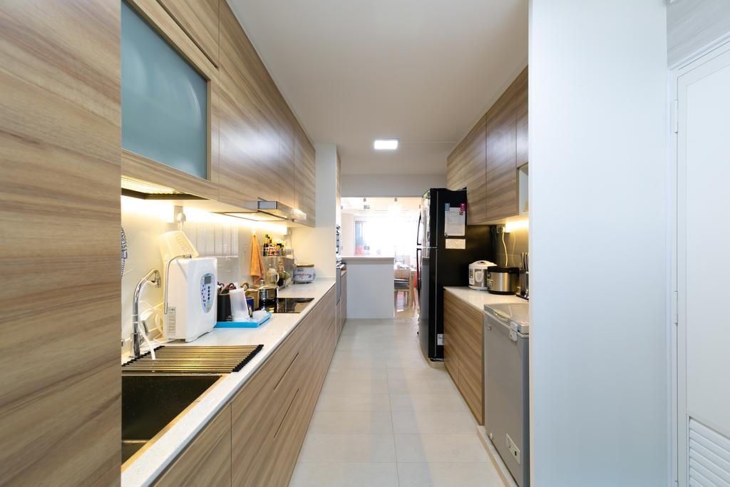 Modern, HDB, Kitchen, Woodlands Avenue 3, Interior Designer, Todz'Terior