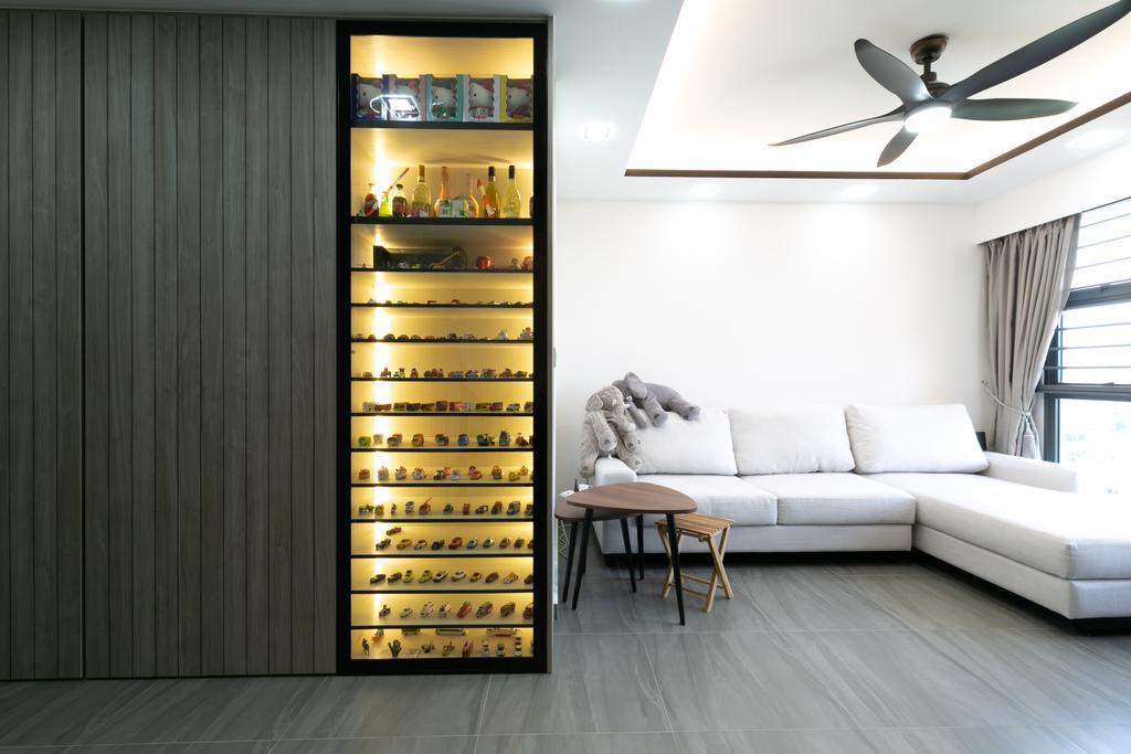 Modern, HDB, Living Room, Clementi Street (Block 445), Interior Designer, Todz'Terior, Collectibles, Figurines, Display