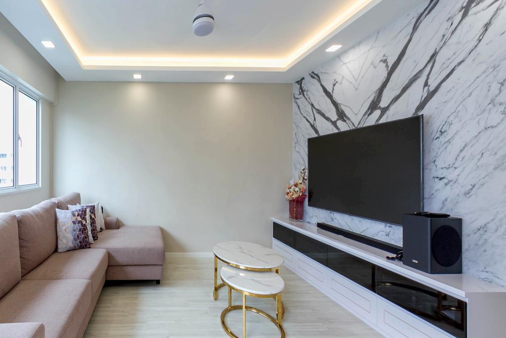 Modern, HDB, Living Room, Hougang Street 51, Interior Designer, Todz'Terior