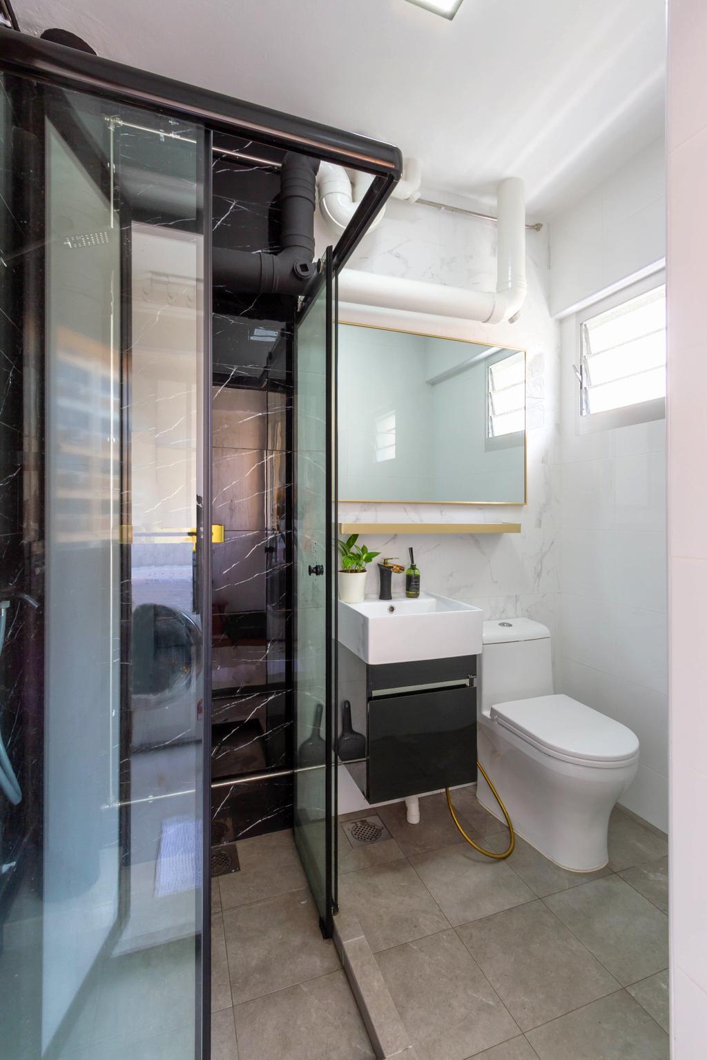 Modern, HDB, Bathroom, Pasir Ris Street 51, Interior Designer, Todz'Terior, Minimalistic