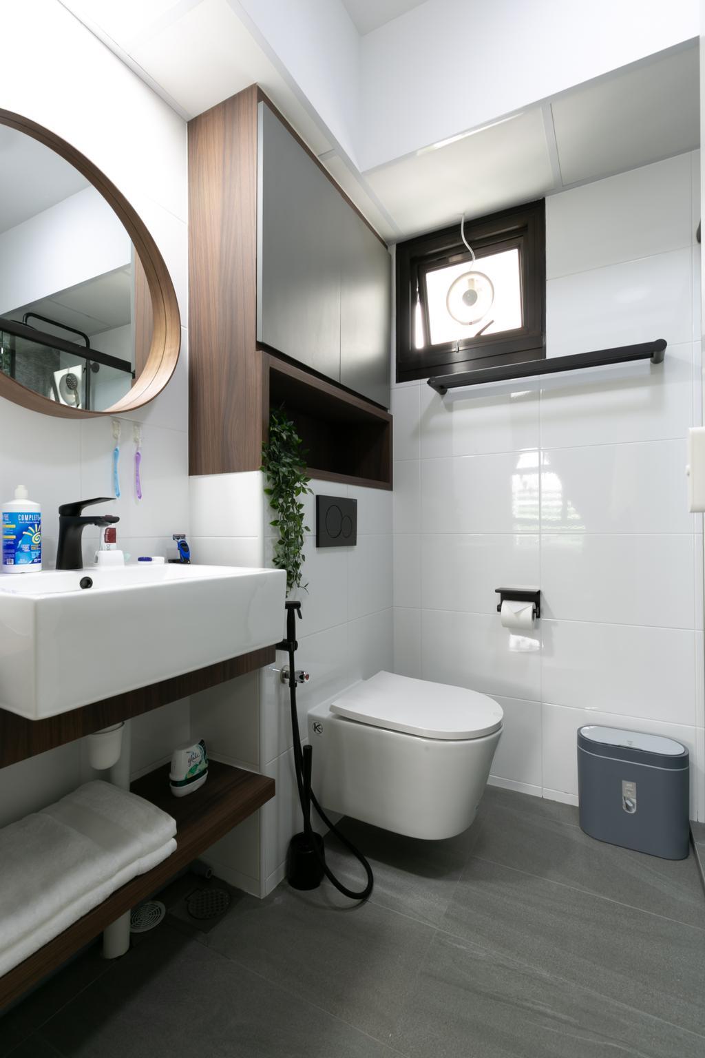 Modern, HDB, Bathroom, Tampines North Drive 1, Interior Designer, Todz'Terior