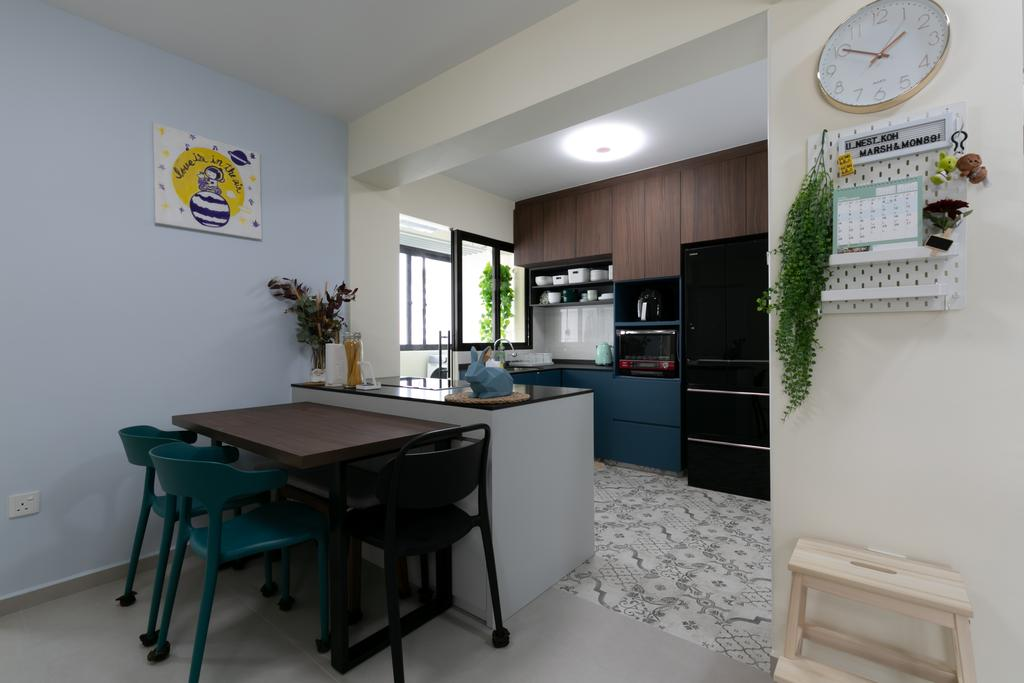 Modern, HDB, Kitchen, Tampines North Drive 1, Interior Designer, Todz'Terior