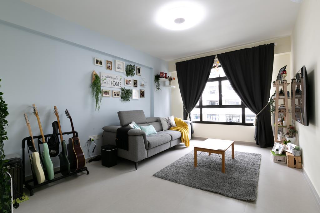 Modern, HDB, Living Room, Tampines North Drive 1, Interior Designer, Todz'Terior