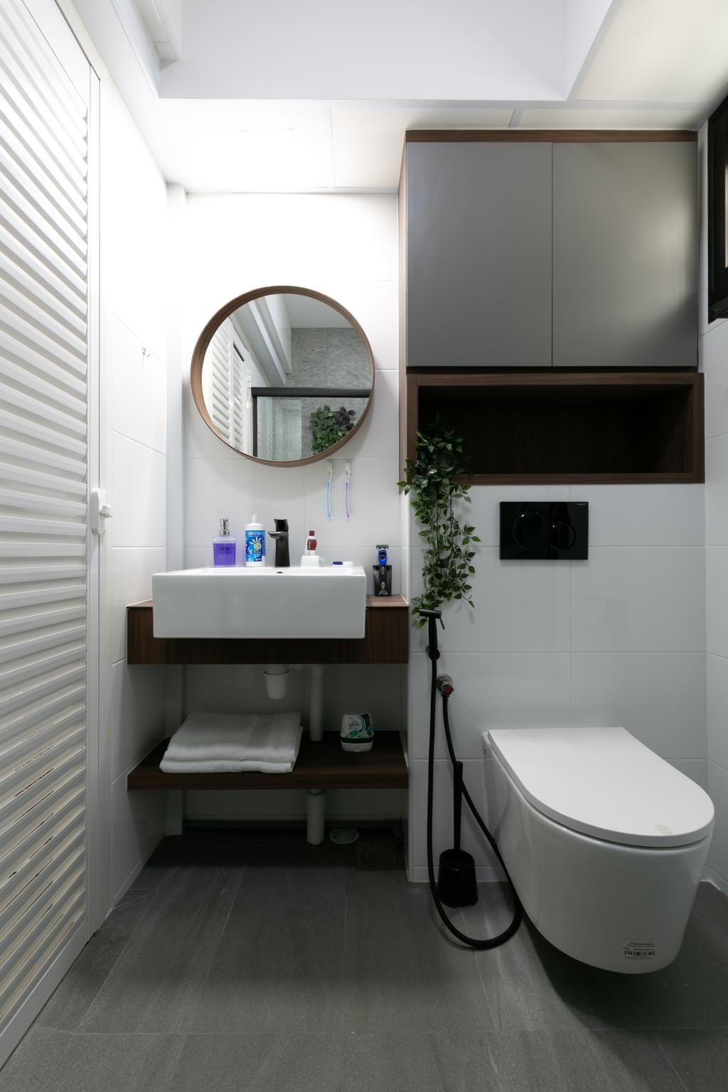 Modern, HDB, Bathroom, Tampines North Drive 1, Interior Designer, Todz'Terior