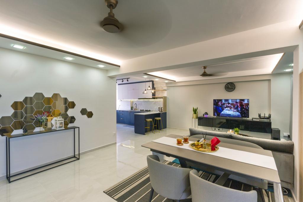 Modern, HDB, Living Room, Pasir Ris Street 51, Interior Designer, Todz'Terior, Minimalistic