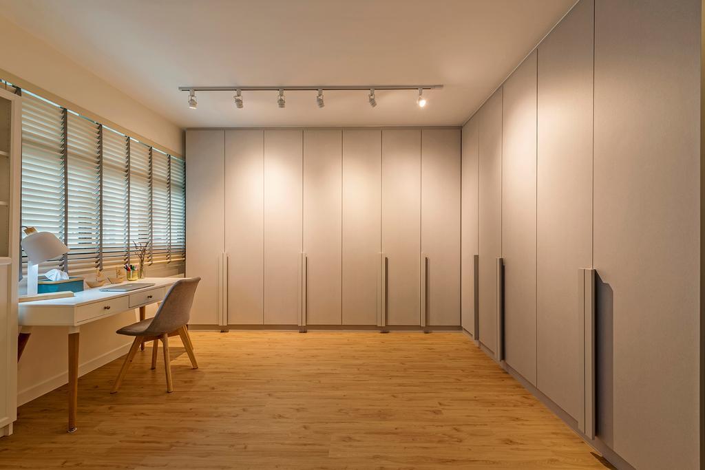 Scandinavian, HDB, Bedroom, Keat Hong Link, Interior Designer, DM+