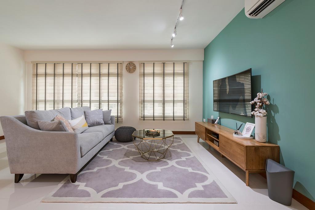 Scandinavian, HDB, Living Room, Keat Hong Link, Interior Designer, DM+