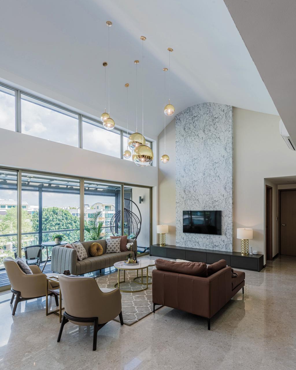 Modern, Condo, Living Room, The Calrose, Interior Designer, Yang's Inspiration Design, Contemporary