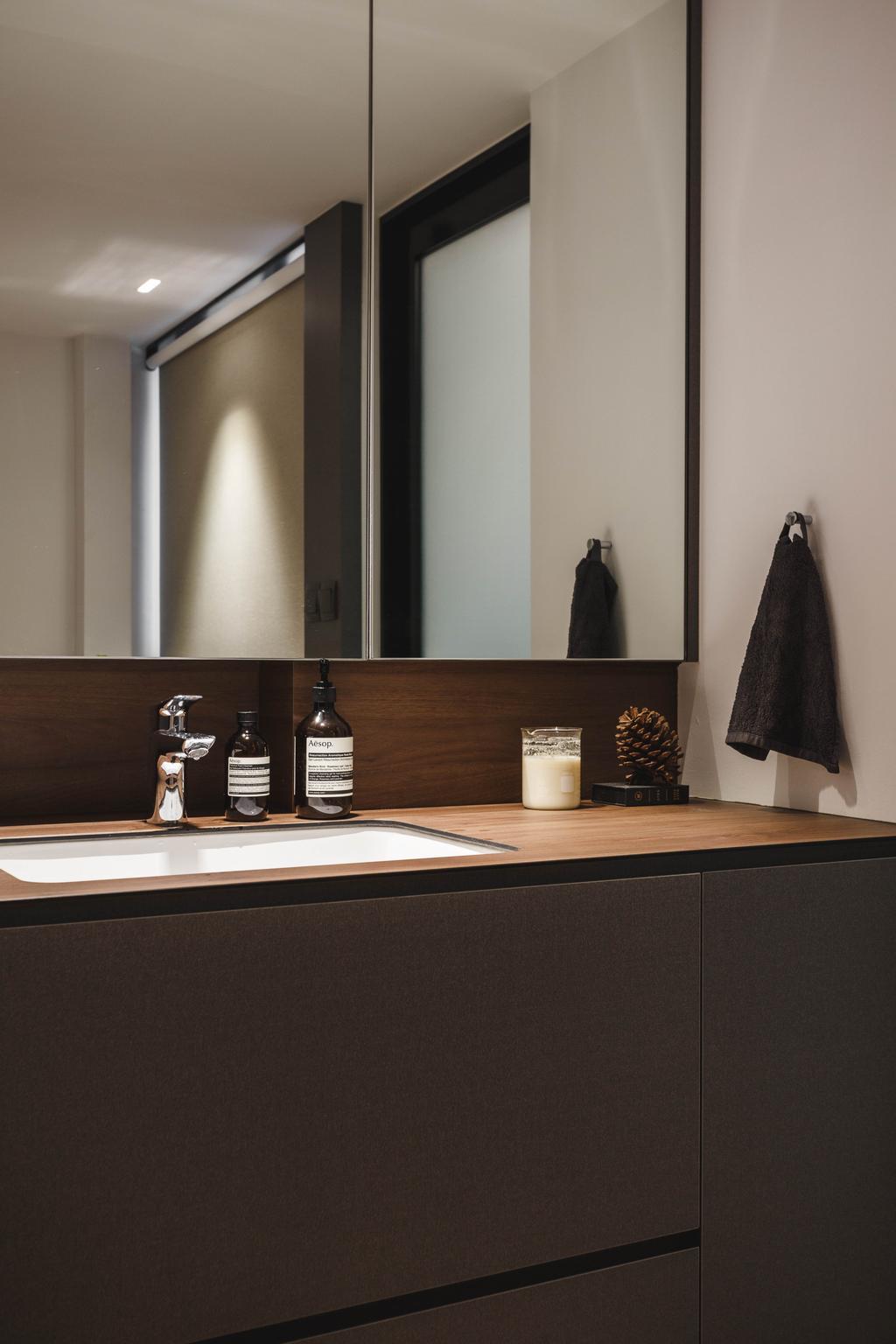 Contemporary, HDB, Bathroom, Tampines Street 82, Interior Designer, Habit, Scandinavian