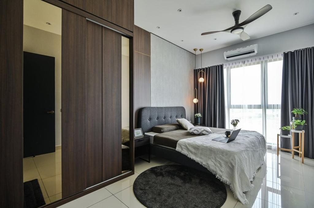 Modern, Condo, Bedroom, The Parque Eco Sanctuary, Telok Panglima Garang, Interior Designer, One Space Sdn Bhd