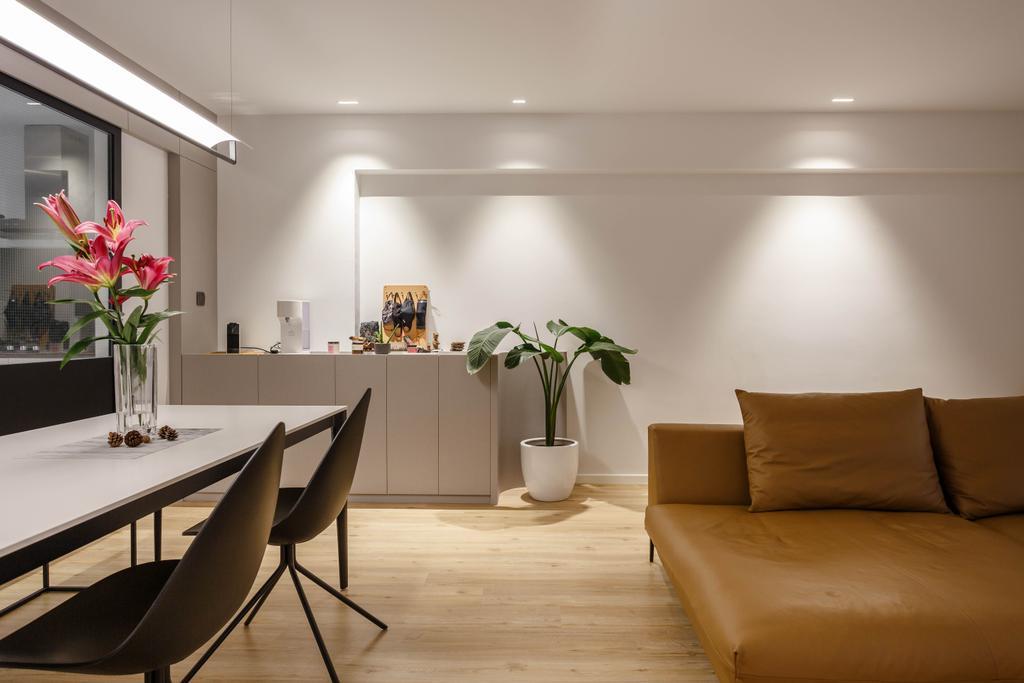 Contemporary, HDB, Dining Room, Tampines Street 82, Interior Designer, Habit, Scandinavian